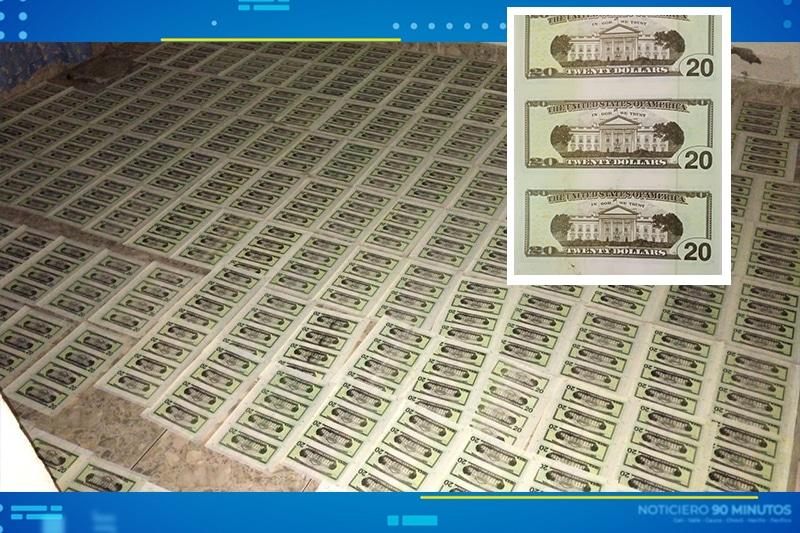 En vivienda del oriente de Cali imprimían dólares falsos que llegaban hasta Ecuador