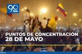 Conozca los puntos de concentración y marchas en Cali para este 28 de mayo