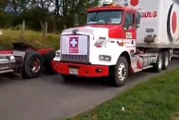 Camiones que transportaban insumos médicos fueron atacados en la vía Cali-Buga