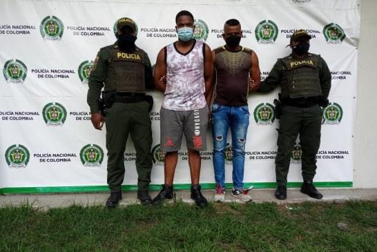 Capturados dos hombres implicados actos de terrorismo, hurto y daño en bien ajeno