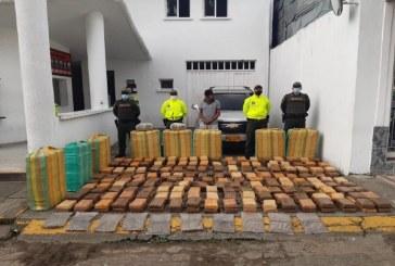 Capturan a responsable de transportar más de 800 kilos de marihuana