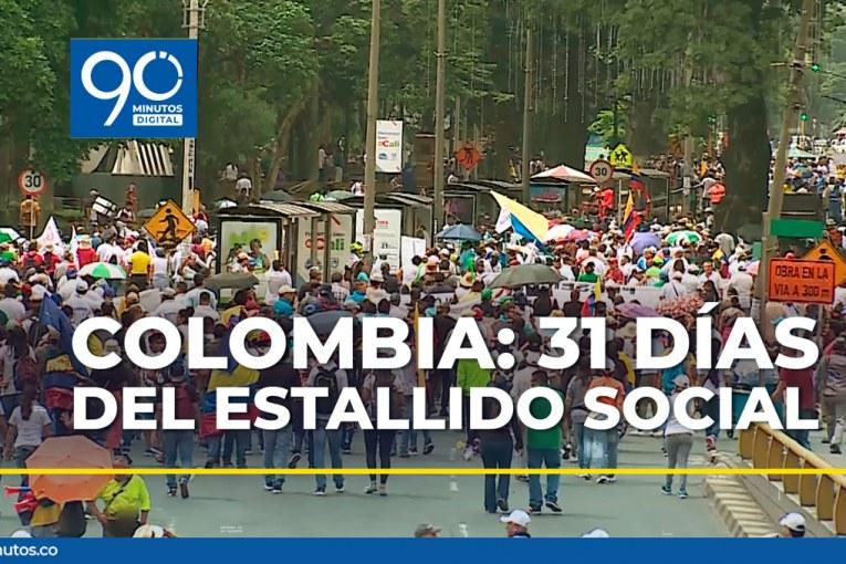 Colombia: 31 días de un estallido social que se sostiene en las calles