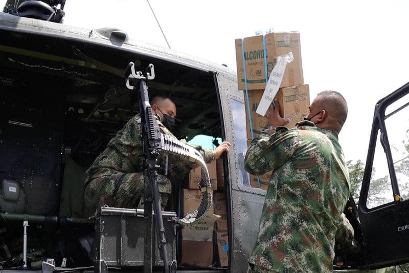 Ejército transportó más de 600 kilos de insumos para atención médica