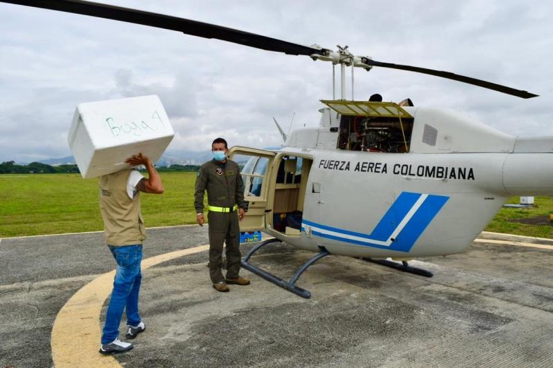 Fuerza Aérea apoya la distribución de vacunas contra el Covid-19