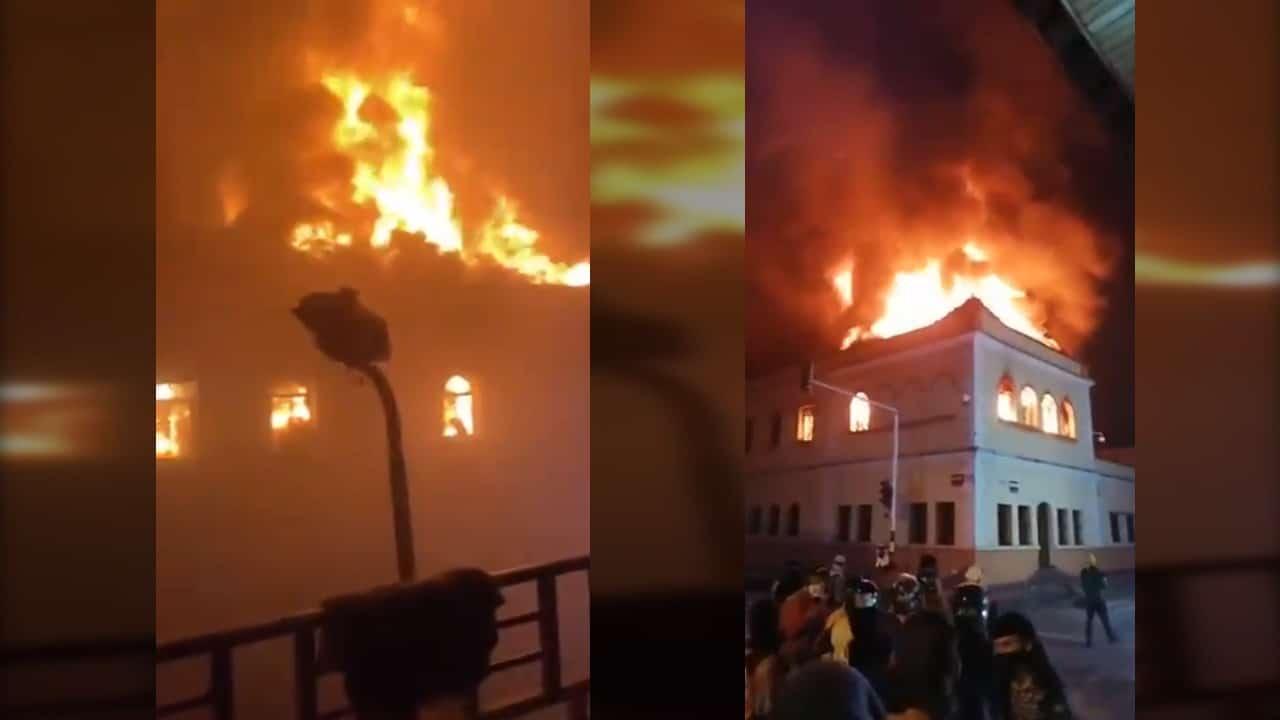 En medio de disturbios, fue incinerado el Palacio de Justicia de Tuluá