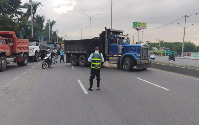 Reporte de vías bloqueadas este martes en el Valle del Cauca