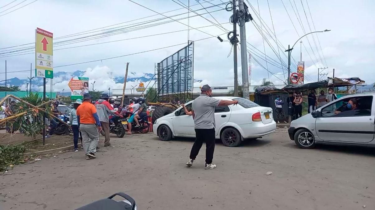 Este es el reporte de vías bloqueadas este lunes en el Valle del Cauca