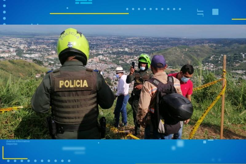 Varios cambuches fueron destruidos en el Cerro de La Bandera