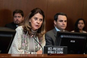 Vicepresidenta de Colombia prioriza labores de Cancillería en Washington