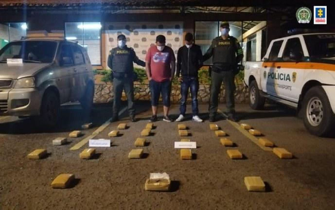 Cárcel para presuntos responsables de transportar narcóticos en el Valle