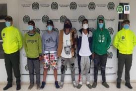Asegurados presuntos miembros de la banda 'Los Biker' en Nariño