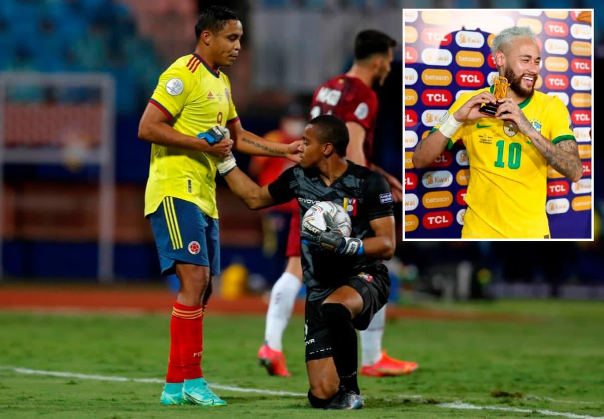 Brasil avasalla a Perú, Fariñez salva a Venezuela y Neymar a 9 goles de Pelé