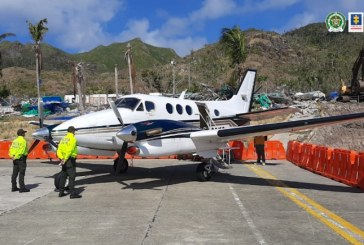 Fiscalía decomisó avioneta que llevaba casi media tonelada de cocaína
