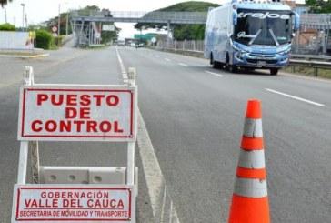 Gobierno del Valle extiende el cierre de fronteras hasta el 7 de junio