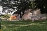 Incendian camión en el sector del puente de los Mil Días
