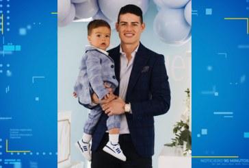 James Rodríguez celebró el bautizo de su hijo menor