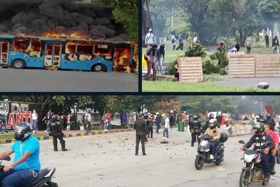 Nuevamente se presentan enfrentamientos, disturbios y bloqueos en Cali