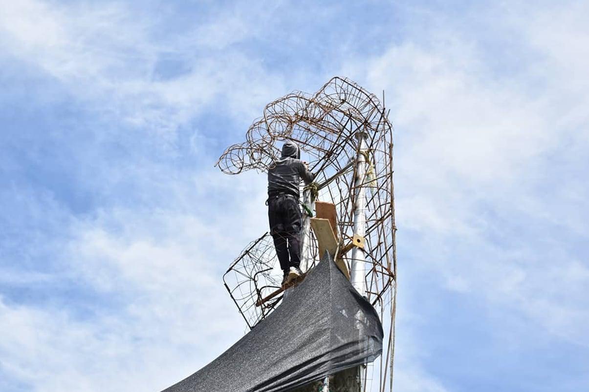 Planeación Cali inspeccionará monumento que construyen manifestantes en Puerto Rellena