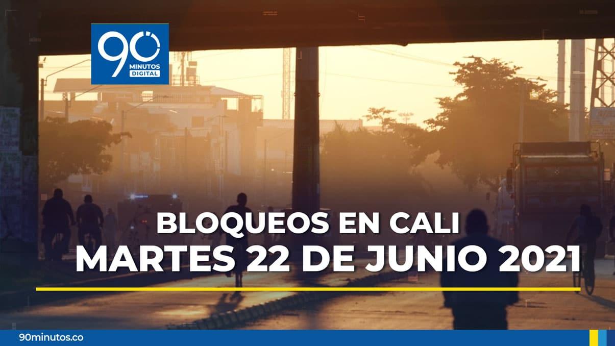 Reporte actualizado de bloqueos en Cali para este martes 22 de junio