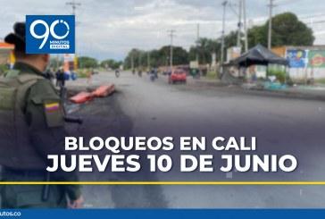 Reporte actualizado de bloqueos en Cali para este jueves 10 de junio
