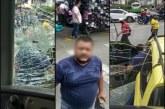 Taxista que atacó a un bus del Mío pidió disculpas por los hechos