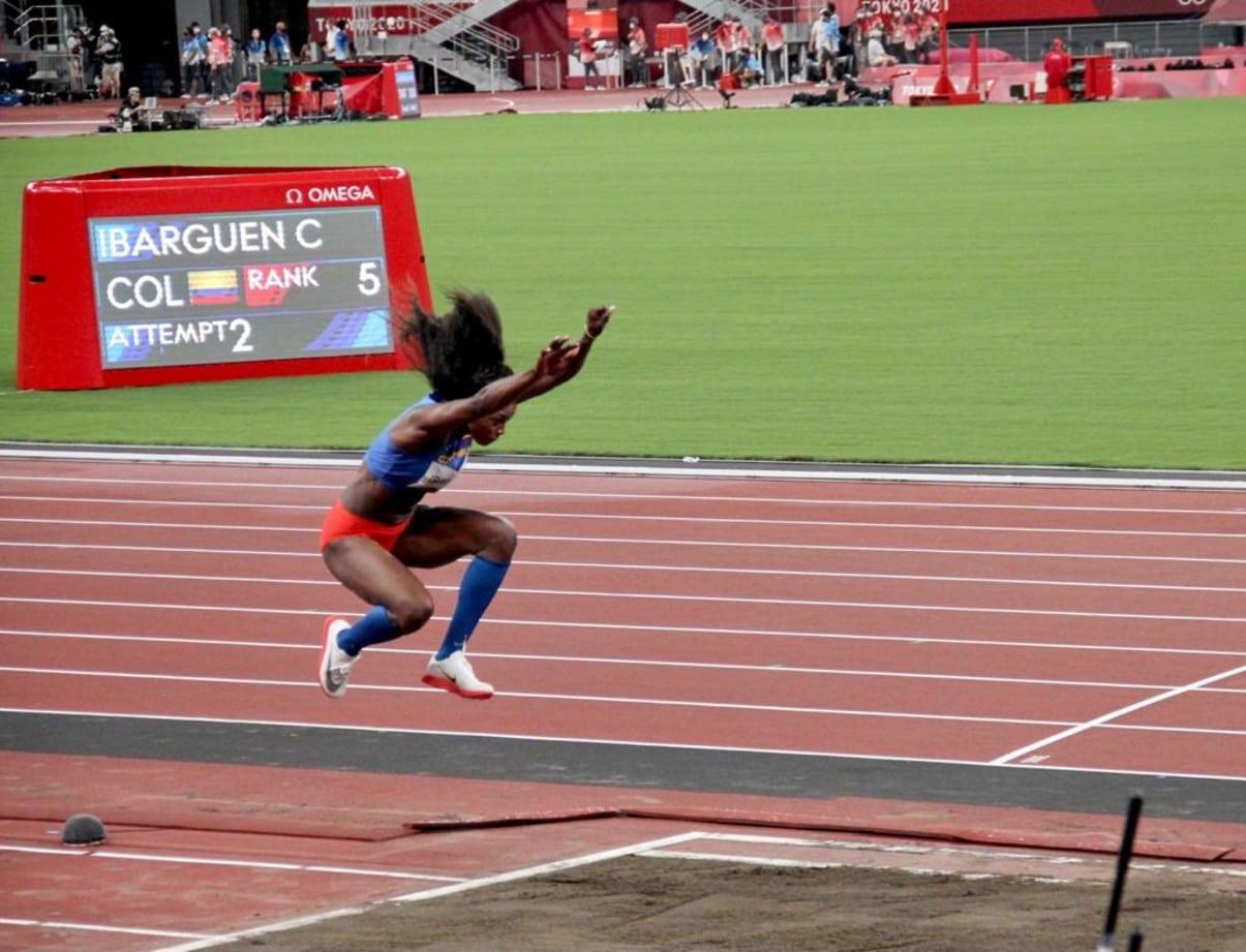 Caterine Ibargüen rumbo a la final del salto triple en los Olímpicos de Tokio