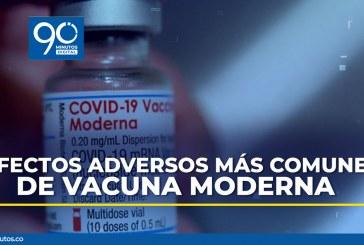 Estos son los efectos adversos que puede llegar a sentir con la vacuna Moderna