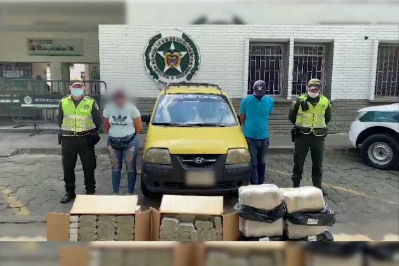 La Policía incautó más de 50 kilos de marihuana en el nororiente de Cali