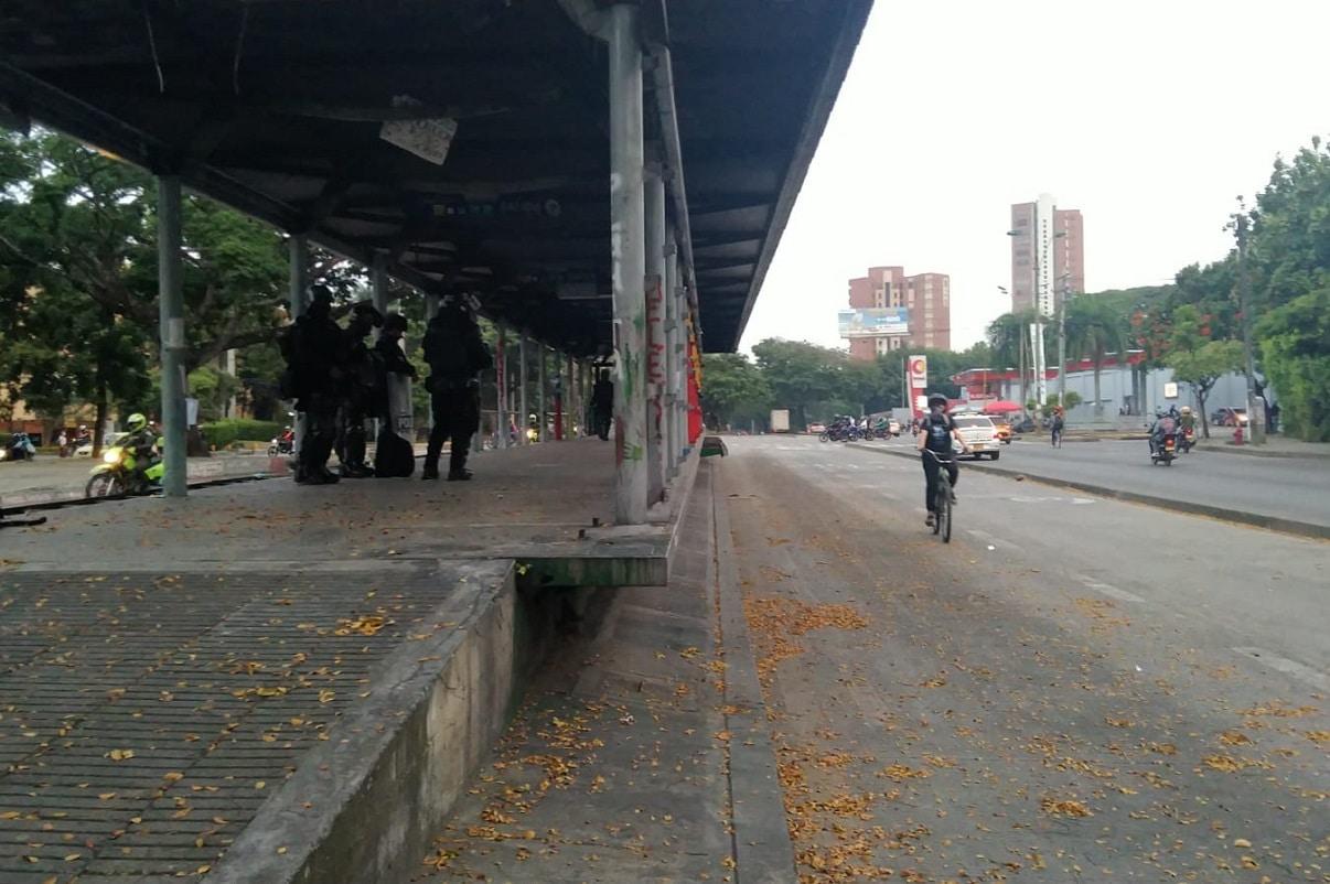 Manifestantes entregaron voluntariamente estación del Mío Meléndez