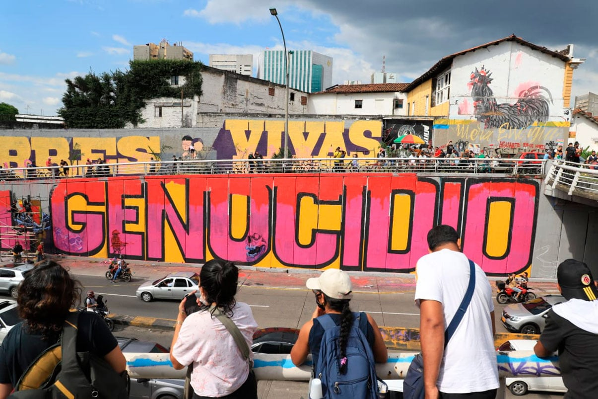 Mural con mensaje no concertado será intervenido por la Alcaldía de Cali