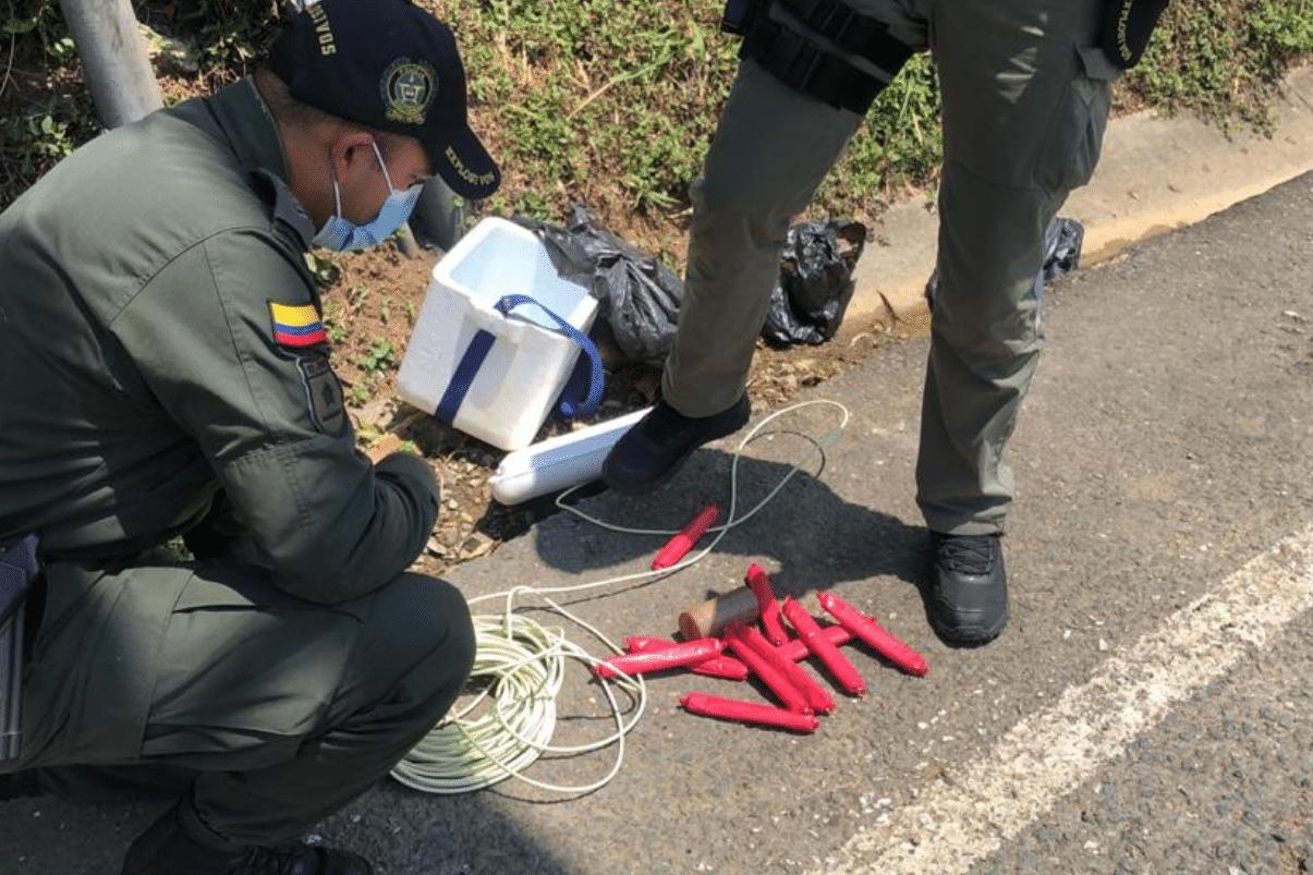 Policía incauta explosivos que se iban a usar en ataque terrorista en Cali