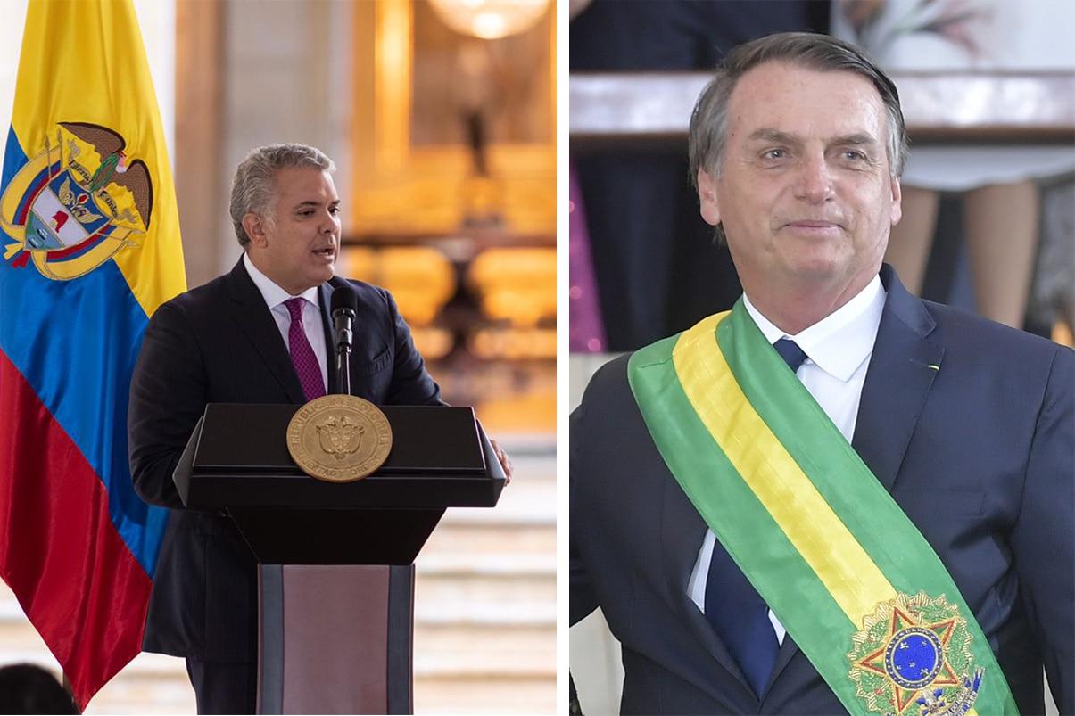 Presidente Iván Duque envía saludo de recuperación a su par de Brasil