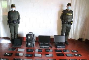Recuperadas 33 tabletas robadas de una institución de Vijes, Valle