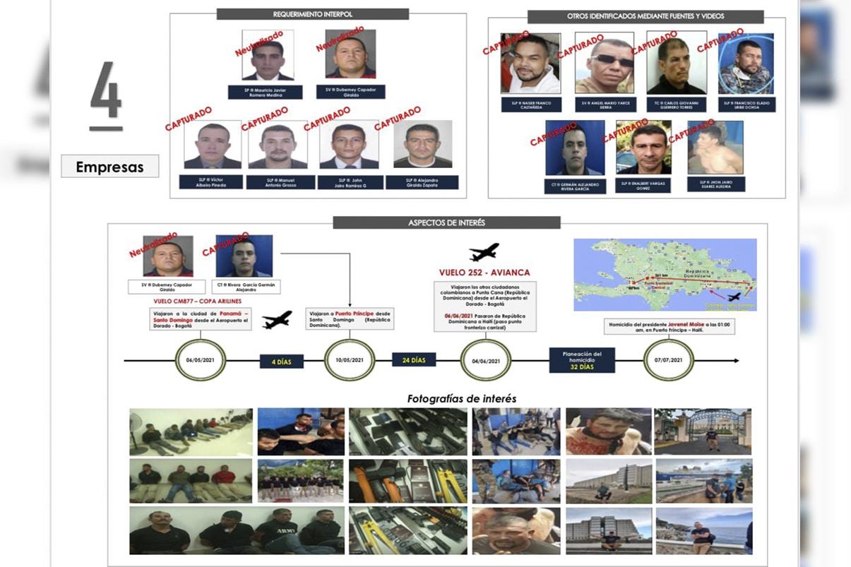 Revelan información de 11 colombianos detenidos por asesinato de Moïse