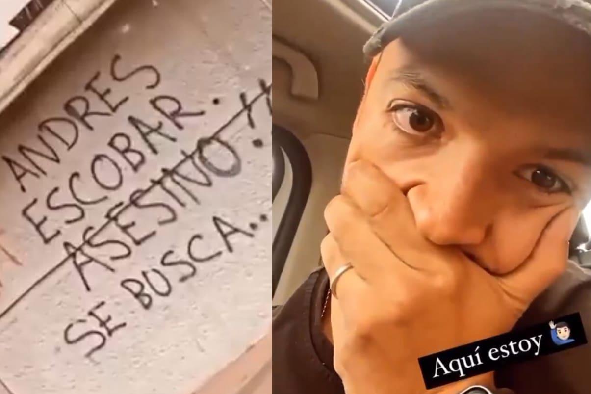 """Viral: Andrés Escobar pinta grafiti donde lo llaman """"asesino"""""""
