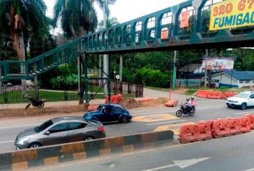 Alcaldía anunció que postergará desmonte de puente peatonal de la Autónoma