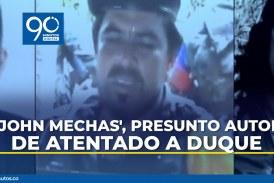 """Expiden circular roja Interpol contra """"Jhon Mechas"""" por atentado a Duque"""