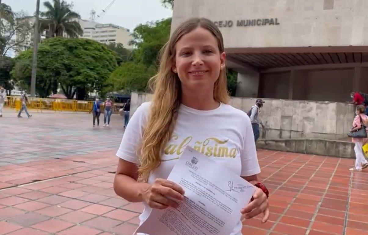 """Concejala Diana Rojas radica proyecto para crear y consolidar la """"Marca Ciudad Cali"""""""