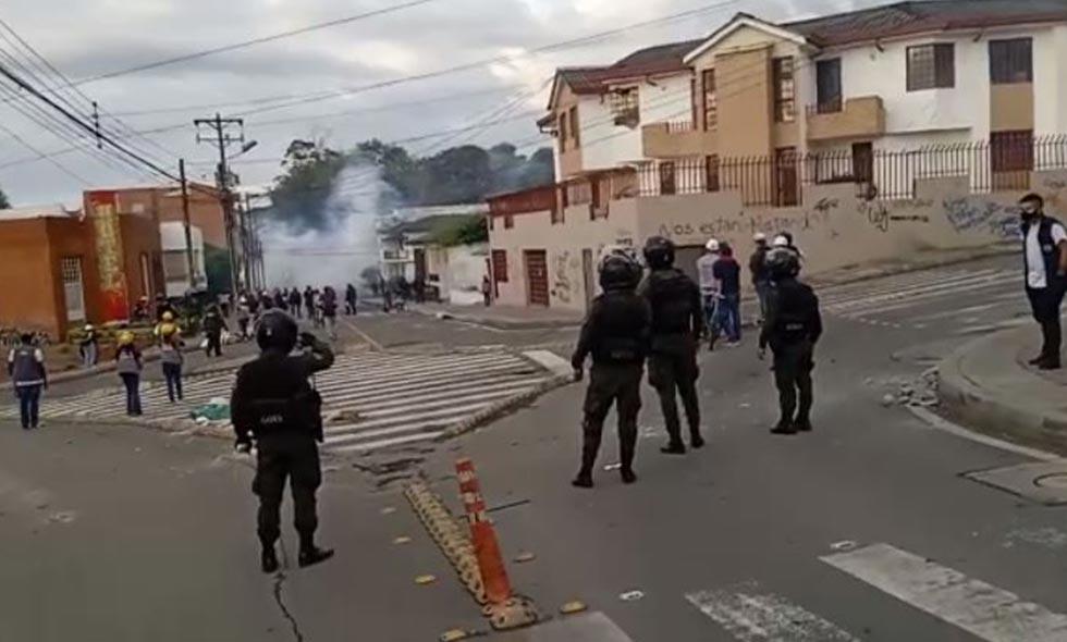Disturbios en Popayán por jornada de manifestaciones dejó cuatro heridos