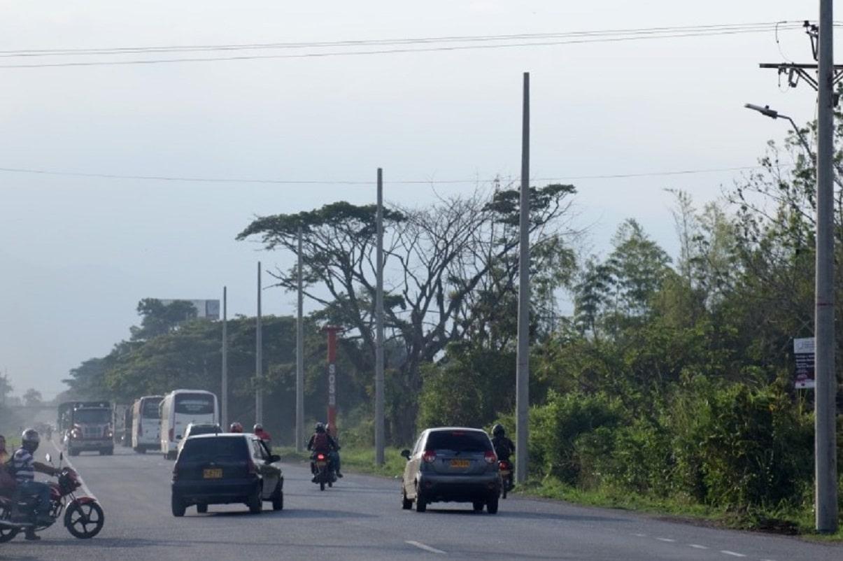 Empezó la iluminación de la Vía Panamericana en Jamundí