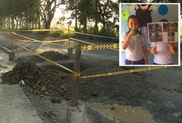 SOS Vecino: Niños claman ayuda por vía en mal estado en Ciudad del Campo
