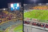 Partido de Santa Fe vs Atlético Nacional terminó en batalla campal