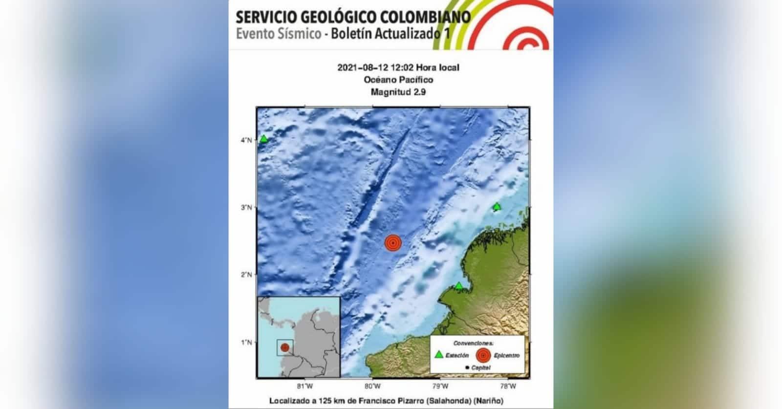 ¡Tembló en el suroccidente colombiano! Registran dos sismos este jueves