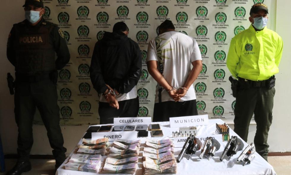 """Capturados alias """"Naranjo"""" y """"Antony"""", presuntos integrantes de la 'primera línea' de Yumbo"""