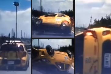 Video: El impresionante accidente de un taxista 'acelerado' en plena Autopista Sur