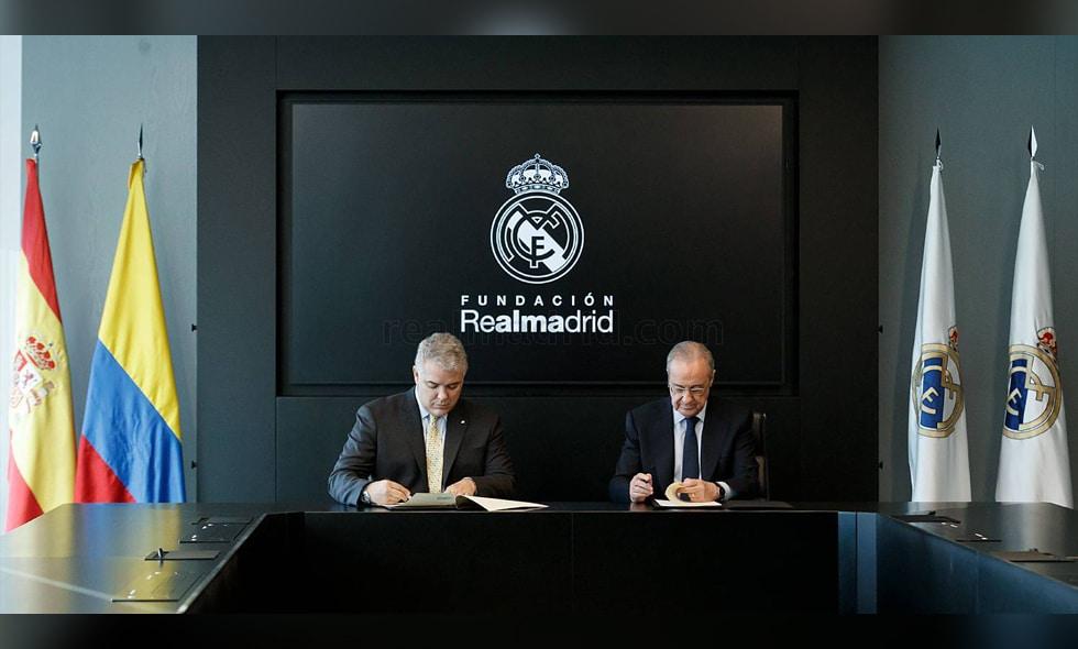 El presidente Duque se reunió con el presidente del Real Madrid en España