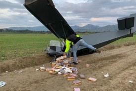 Hallan avioneta chocada con más de 170 kilos de coca en San Pedro, Valle