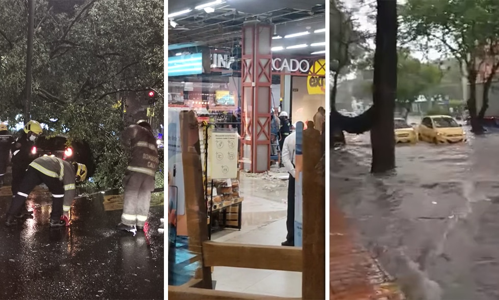 Múltiples emergencias por fuertes lluvias de este lunes en Cali