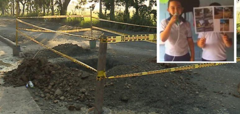 En el barrio Ciudad del Campo denuncian el mal estado de sus vías