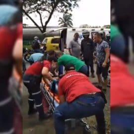 Mujer cayó en extrañas circunstancias de un carro en la vía Cali-Yumbo